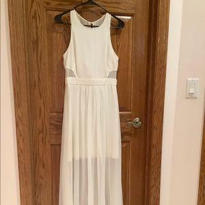 White High Low Shear Maxi Dress
